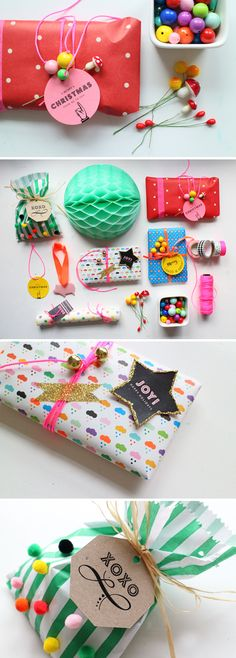 Merry & bright gift wrap ideas by minimega . Thanks, Sara, for sharing your awesome gift tags ! For more gift wrapping inspiration fo. Wrapping Ideas, Creative Gift Wrapping, Creative Gifts, Pretty Packaging, Gift Packaging, Christmas Gift Wrapping, Christmas Gifts, Craft Gifts, Diy Gifts