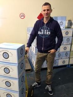 Rob shipping the Hargreaves Hill Hefweizen craft beer selected for this months Beer Of The Month Club
