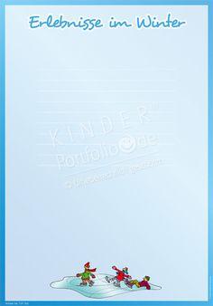"""Kindergarten Portfolio Vorlage """"Erlebnisse im Winter"""""""