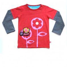 Kids T-shirt Girlflower + Snail #kidswear #cute #BeeeTú