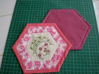 Penny's Hands: No Bias Binding Hexagon Coaster