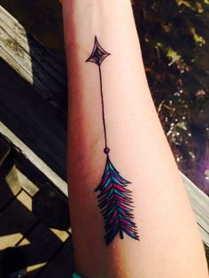 I love the coloring in my arrow tattoo