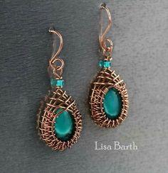 Lisa Barth copper wire earrings