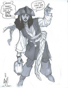 ✭ Captain Jack Sparrow by Adam Hughes