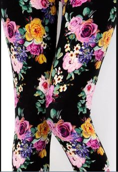 a9b21099d2afe BUTTERY SOFT PURPLE GOLD FLORAL Leggings ONE Size fit size 2-12 NWT  NewMix