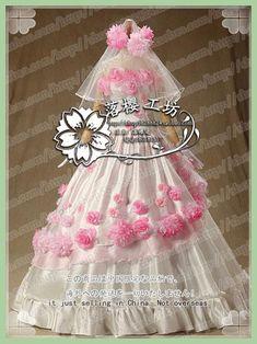 Anime Attack on Titan Krista Lenz (Historia Reiss) Cosplay Costume Wedding Dress Outfit Dress+Gloves+Veil