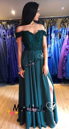 off the shoulder prom dress, long prom dress, 2019 prom dress, prom dress with side slit, formal evening dress