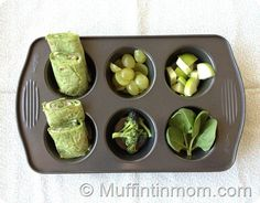 Green Foods for Muffin Tin Monday, in celebration of St. Patrick's Day