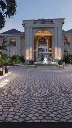 Luxury Homes Exterior, Luxury Modern Homes, Modern Mansion, Luxury Homes Dream Houses, Interior And Exterior, Classic House Exterior, Classic House Design, Dream House Exterior, Palace Interior