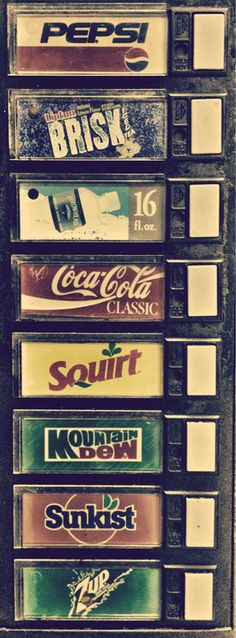 Just admit it, you like pushing the buttons on the vending machine for soda...even if you don't like soda.