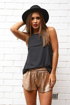 Rose Gold Fever Shorts | STYLEADDICT.COM.AU