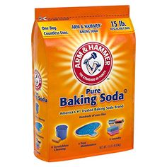 Arm and Hammer Pure Baking Soda 15 lbs NEW! Baking Soda For Cooking, Baking Soda Uses, Baking Cups, Baking Sheet, Arm And Hammer Baking Soda, Soda Brands, Pool Maintenance, Unwanted Hair, One Bag
