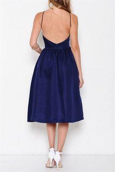 Blue Moon sexy back flare midi Dress – THE CLOSET CONSPIRACY