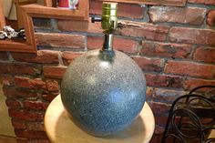 Vintage Leviton Ceramic lamp, Lamp base, Ceramic lamp base, Vintage ceramic lamp base, Ceramic globe lamp This is a vintage spatter colored Leviton lamp that is ceramic and I am pretty sure from the 1970's. There is some wear on the lamp so please look at the pictures. There is also a