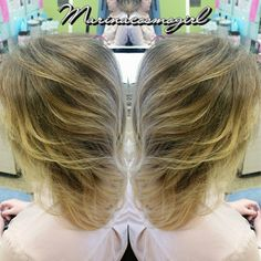 A little Balayage action for you.  Balayage Ombré, haircut, & style