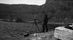 Surveying, Vågavågen, Bokn. 1912.   by Fylkesarkivet i Sogn og Fjordane