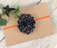 129f0296a17 Navy blue and orange headband