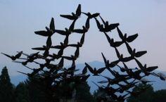 Dove Sculpture, architecture, birds, Bulgara, dove, monument, nature, photo, photography, pigens, sky, sulpture, sunsey, twilight