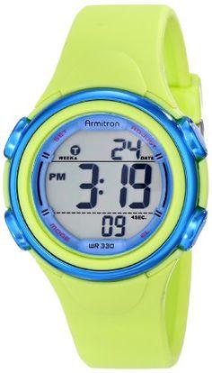 Armitron Sport Women's 45/7037LGN Digital Chronograph Light Green Resin Strap Watch Armitron Sport http://www.amazon.com/dp/B00JJGFJ34/ref=cm_sw_r_pi_dp_9BSyub1J1MAJ6