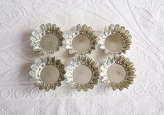 Vintage Swedish Tart Tins, Round Metal Tartlet Molds