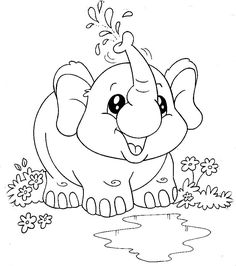 Cute Coloring Pages, Disney Coloring Pages, Animal Coloring Pages, Adult Coloring Pages, Coloring Books, Art Drawings For Kids, Cute Animal Drawings, Drawing For Kids, Easy Drawings