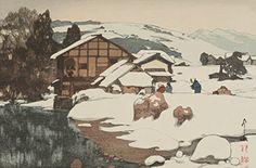 "Japanese Art Print ""Snow in Kashiwabara (Kashiwabara no Yuki)"" by Yoshida Hiroshi. Shin Hanga and Art Reproductions http://www.amazon.com/dp/B010VHE1AG/ref=cm_sw_r_pi_dp_PHbtwb0AHZ463"