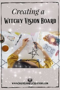 Magick Spells, Wicca Witchcraft, Bullet Journal Vision Board, Origami, Creating A Vision Board, Images And Words, Affirmation Cards, Yoga Studios, Book Of Shadows