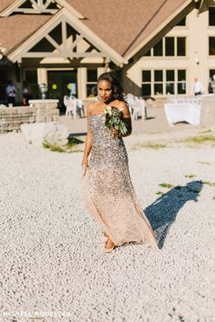 Bridesmaid Hair, Bridesmaid dresses long, sequin dress, adrianna papell, bridesmaid bouquet, african american hairstyles