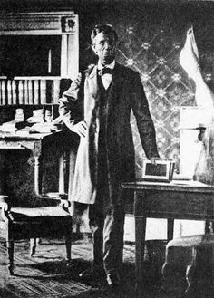 Abraham Lincoln in his office in 1864