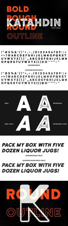 Katahdin Bold - Clean, Rough, More!. Sans Serif Fonts. $25.00