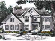 New American House Plan with 2772 Square Feet and 5 Bedrooms(s) from Dream Home Source | House Plan Code DHSW01689