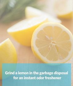 Instant garbage disposal freshner and 29 other life-saving tips on the site.
