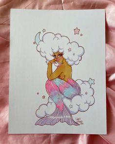 """Squid Vishuss on Instagram: """"Day 4, Clouds 🌙🌧 #squidsmermay"""" Mermaid Lagoon, Clouds, Photo And Video, Instagram, Cloud"""