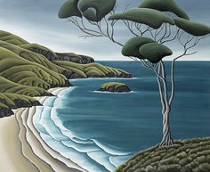 Otago Peninsula by Diana Adams. Art-prints on canvas or paper available from www.imagevault.co.nz