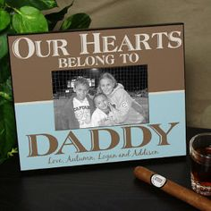 $24.98 Personalized Our Hearts Belong To Daddy Printed Picture Frame