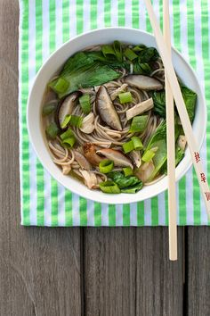 Mushroom, Chicken and Soba Noodle Soup | Annie's Eats