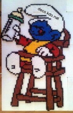 Baby Smurf hama perler beads by deco.kdo.nat