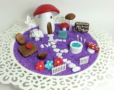 Mushroom Cottage Mini Fairy Garden Kit