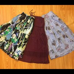Selling this !SALE! 🎉LOT OF 3 SKIRTS!! 🎉 on Poshmark! My username is: shelbsweetheart. #shopmycloset #poshmark #fashion #shopping #style #forsale #American Eagle Outfitters #Dresses & Skirts