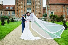 Bridal veil portrait at Layer Marney Essex Wedding by Anesta Broad Photography