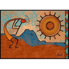 Postage Stamp - Art by Zeke Sena, New Mexico, USA http://www.zazzle.com/ziasun/?qs==0=2#homeProducts