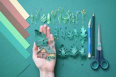 Beautiful Paper Art Work by Margaret Scrinkl