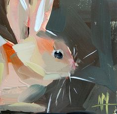 Hey, I found this really awesome Etsy listing at https://www.etsy.com/listing/228851833/bunny-no-12-original-rabbit-oil-painting