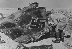 tail of German bomber in Libya 1942