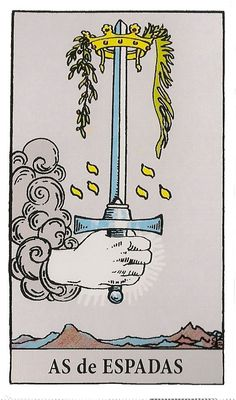 An in depth analysis of the Ace of Swords tarot card meanings and imagery. The first step may be the hardest, but the Ace of Swords gives you the courage to take this step. Rider Waite Tarot Cards, Tarot Waite, Tarot Significado, Ace Of Swords, Owl Wings, Online Tarot, Free Tarot, Daily Tarot, Tarot Card Meanings