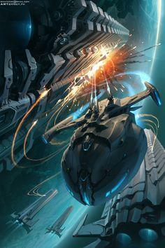 ArtStation - Sci fi unexpected strike, Sviatoslav Gerasimchuk