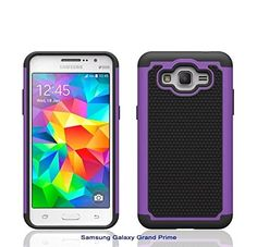 Grand Prime Case, E-weekly(TM) Slim Series [Shock Absorption] Heavy Duty Hybrid Impacts Dual Layer Armor Defender Scratch Resistant Protective Case Cover for Samsung Galaxy Grand Prime G530(Purple) *** You can get more details by clicking on the image.