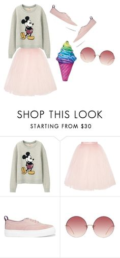 """""""Sweet girl"""" by dogcookie ❤ liked on Polyvore featuring Uniqlo, Ballet Beautiful, Eytys, Linda Farrow and Iscream"""