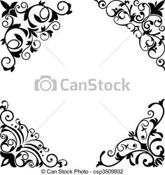 Vector - Flower patterns and borders - stock illustration, royalty free illustrations, stock clip art icon, stock clipart icons, logo, line art, EPS picture, pictures, graphic, graphics, drawing, drawings, vector image, artwork, EPS vector art