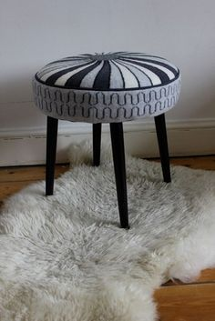 Knitted Stools - Sally Nencini - Bespoke upholstery and knits for the home
